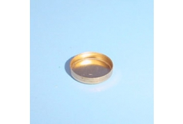 15mm Brass Round Straight Wall Setting.