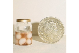 Excellent Half Filled Jar Of Pickled Eggs