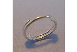 Silver Plate Split Ring 9mm