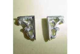 1:24 Pair Of Metal Shelf Brackets