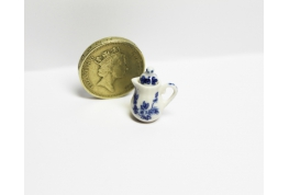 24th Scale China Coffee Pot Blue And White