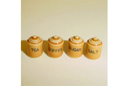 24th Scale Set Of Small Brown Storage Jars