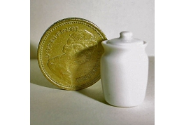 White china storage jar