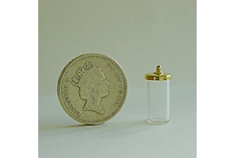 Glass Storage Jar With Fancy Lid
