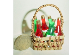 Basket Of Wine Bottles