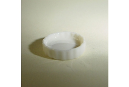 1:24 Medium Flan Dish White