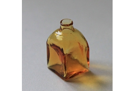 Square Amber Glass Bottle