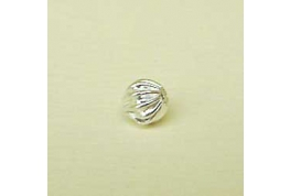 Silver Plated Round Flutted Bead