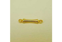 Gold Plate Link Bead.