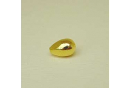 Gold Plate Tear Drop Bead