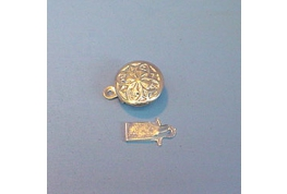 Round Clasp Silver Plate