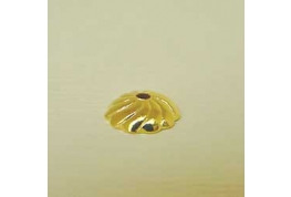 Quality Flutted Bead Cap Gold Colour.