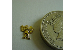 Gold Plated Cupid Facing Right