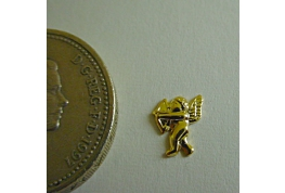 Gold Plated Cupid Facing Left