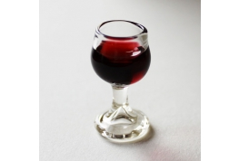 Large Red Wine Glass Filled