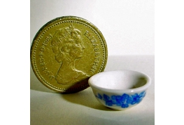 24th Scale Blue And White China Wash Bowl