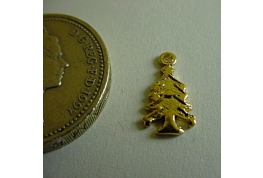 Tiny Gold Plated Christmas Tree