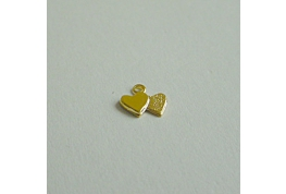 Gold Plated Pair Of Hearts