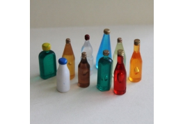 Set Of 10 Acrylic Bottles Set 3