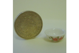 24th Scale Floral China Wash Bowl
