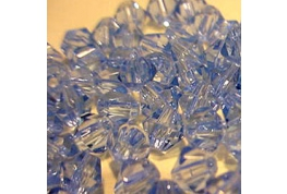 25 x Light Saphire Crystal Bicone Beads
