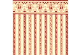 24th Scale Wallpaper Regency Burgundy Stripe
