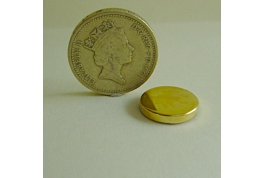 Gold Plated 15mm  Round Tin