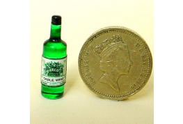 12th Scale British Made Glass White Wine Bottle