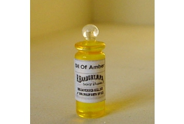 British Made Oil Of Amber Bottle