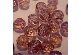 25 x Lilac Round Crystal Facets