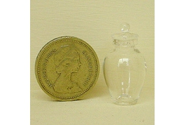 British Made Urn Style Clear Storage Jar Lg