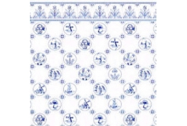 24th Scale Wallpaper Blue Dutch Tile