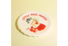 China Nursary Plate Little Miss Muffet