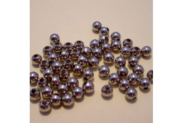 144 x 5mm Round Plain Nickle Plate Beads