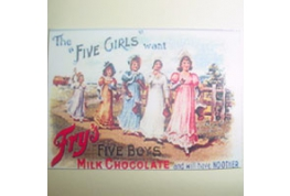 Card Advertising Sign Fry's Chocolate