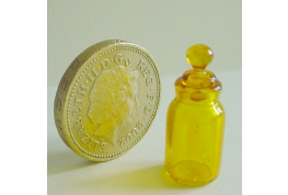 Amber Glass Shaped Chemist Jar