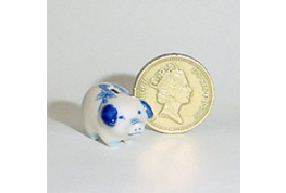 12th Scale China Piggy Bank Blue & White
