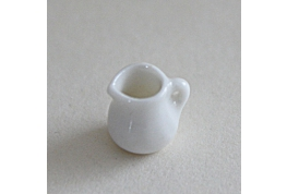24th Scale Miniature White China Milk Jug