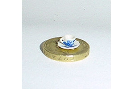 24th Scale Cup & Saucer Blue & White