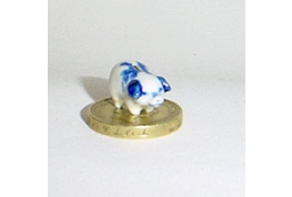 24th Scale China Piggy Bank Blue & White