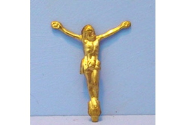 12th Scale Brass Christ on Crucifix