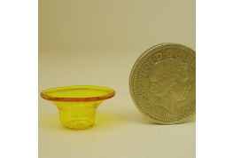 12th Scale Glass Centre Bowl Yellow