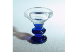 Glass Eye Bath With Coloured Stem