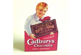Cadbury Standing Card Advertising Sign