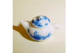 24th Scale Blue & White China Tea Pot