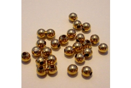 50 x 4mm Round Plain Gilt Beads