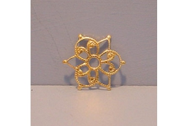 Small Gilt Metal Filigree Shape