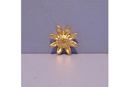 Small Gilt Metal Sunflower