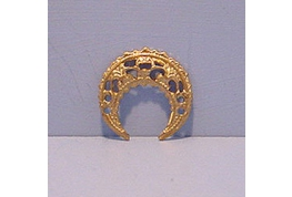 Gold  Plated Metal Filigree Crescent