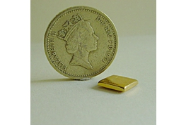 1:24 Scale Shallow Gold Plated Square Tin